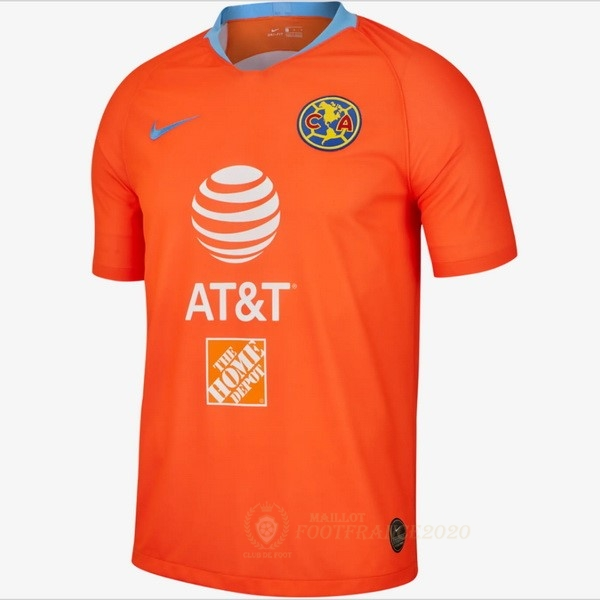 Maillot Foot Pas Cher Third Maillot Club América 2019 2020 Orange