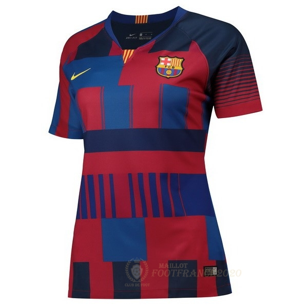 Maillot Foot Pas Cher Maillot Femme Barcelone 20th Bleu Rouge