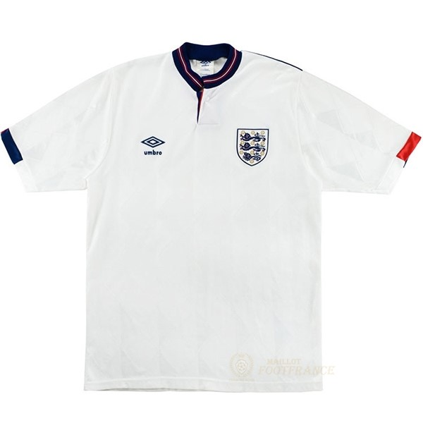 Maillot Foot Pas Cher Domicile Maillot Angleterre Rétro 1989 Blanc