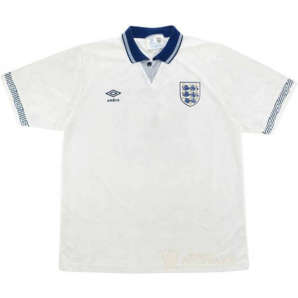 Maillot Foot Pas Cher Domicile Maillot Angleterre Rétro 1990 Blanc