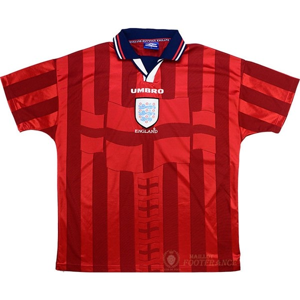 Maillot Foot Pas Cher Exterieur Maillot Angleterre Rétro 1998 Rouge