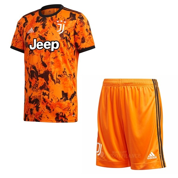 Maillot Foot Pas Cher Third Conjunto De Enfant Juventus 2020 2021 Orange