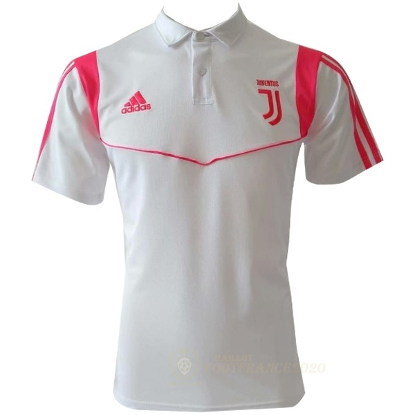 Maillot Foot Pas Cher Polo Juventus 2019 2020 Blanc Rose