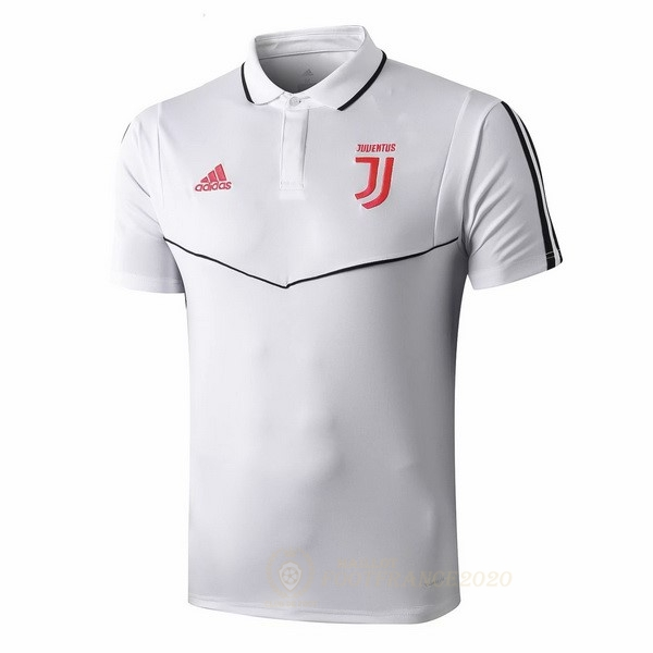 Maillot Foot Pas Cher Polo Juventus 2019 2020 Rose Blanc