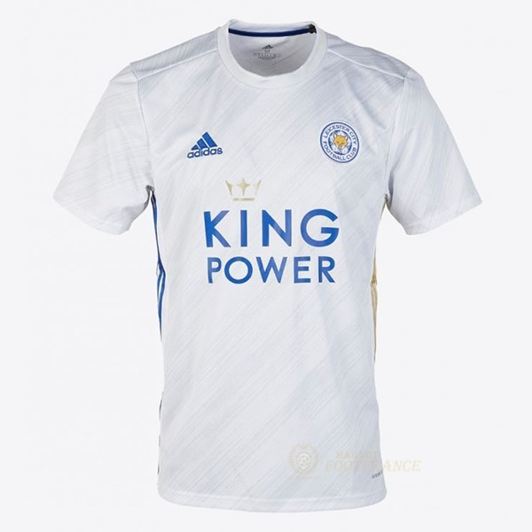 Maillot Foot Pas Cher Exterieur Maillot Leicester City 2020 2021 Blanc
