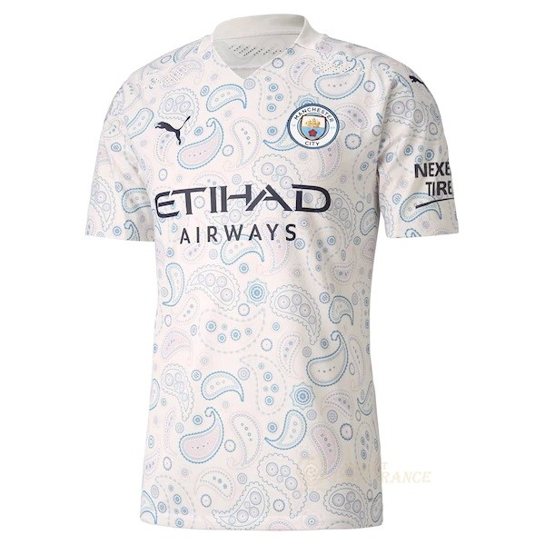 Maillot Foot Pas Cher Exterieur Maillot Manchester City 2020 2021 Blanc