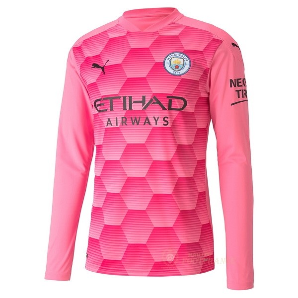 Maillot Foot Pas Cher Third Manches Longues Gardien Manchester City 2020 2021 Rose