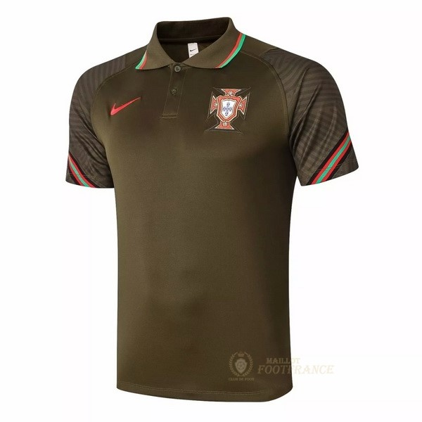 Maillot Foot Pas Cher Polo Portugal 2020 Marron