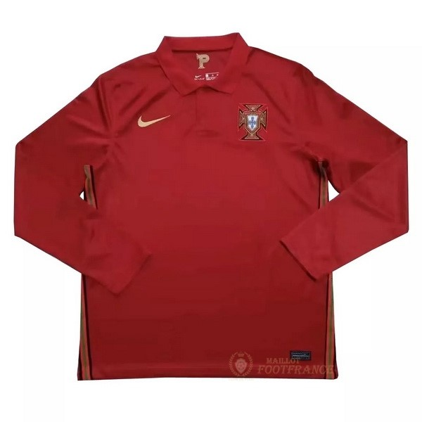 Maillot Foot Pas Cher Casa Manga Larga Portugal 2020 Rouge