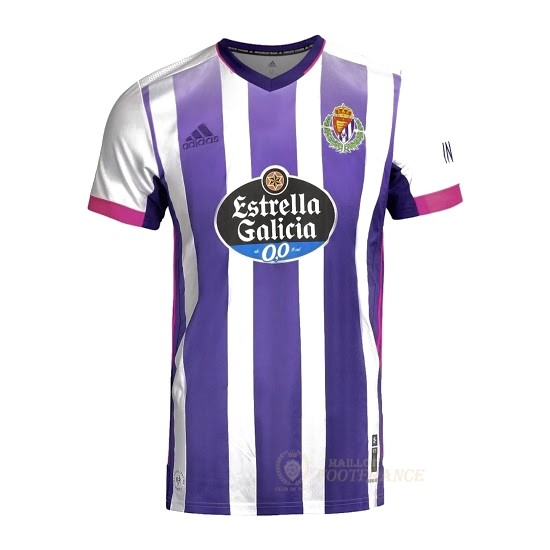 Maillot Foot Pas Cher Domicile Maillot Real Valladolid 2020 2021 Blanc Purpura
