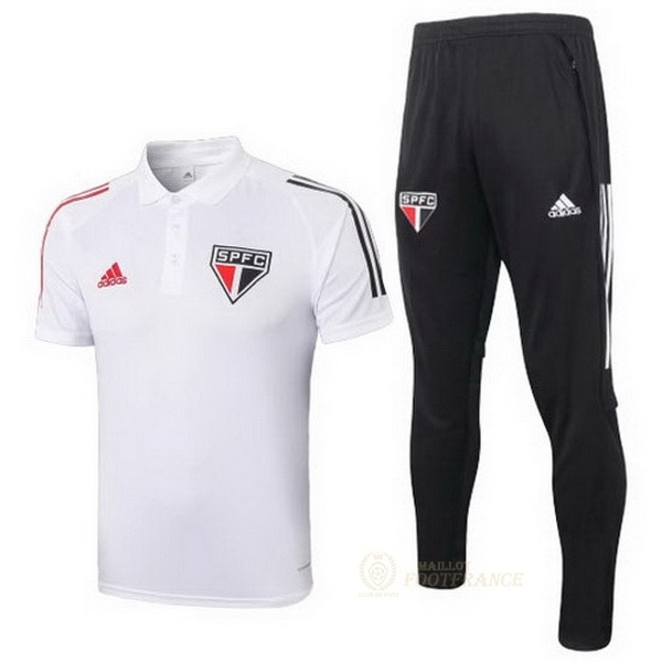 Maillot Foot Pas Cher Ensemble Complet Polo São Paulo 2020 2021 Blanc