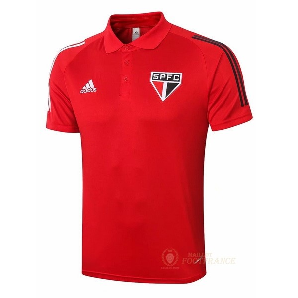 Maillot Foot Pas Cher Polo São Paulo 2020 2021 Rouge